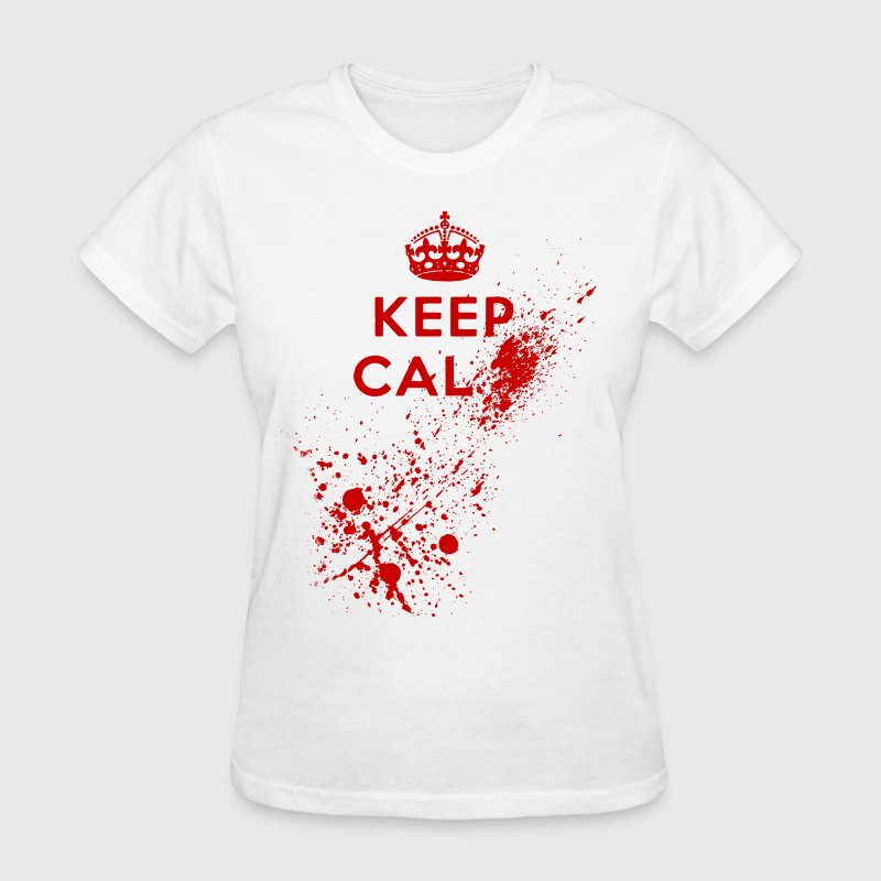 Keep Calm Blood Splatter Women's T-Shirts - Women's T-Shirt