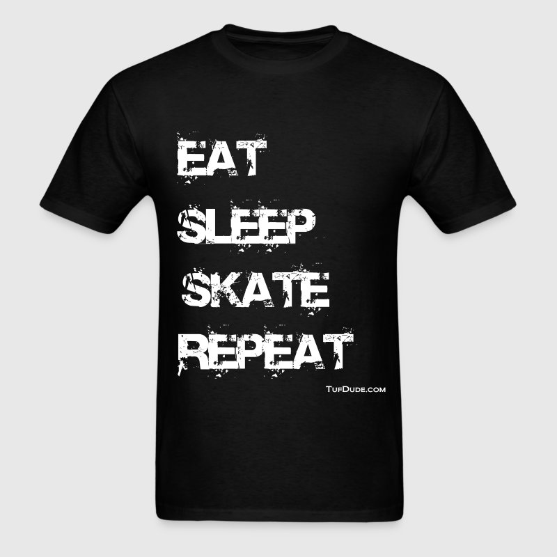 Eat Sleep Skate Repeat wb TD T-Shirts - Men's T-Shirt