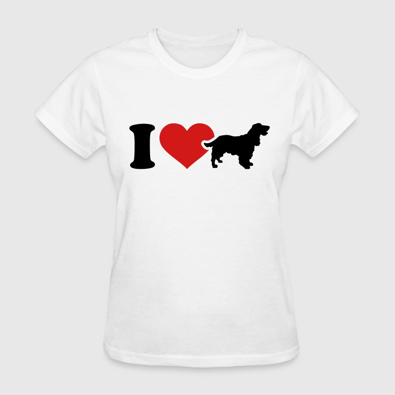 I love Cocker Spaniel Women's T-Shirts - Women's T-Shirt