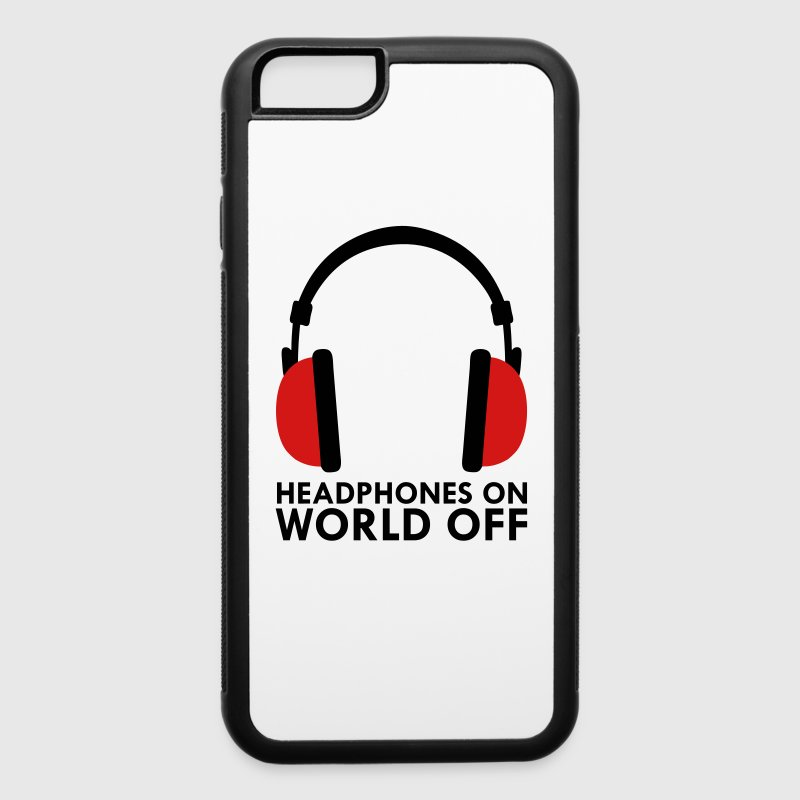 Headphones On World Off Music Accessories - iPhone 6/6s Rubber Case