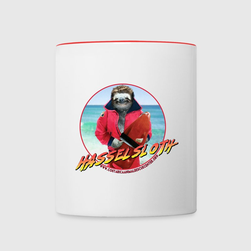 HASSELSLOTH - Don't Hassel The Sloth! Mugs & Drinkware - Contrast Coffee Mug