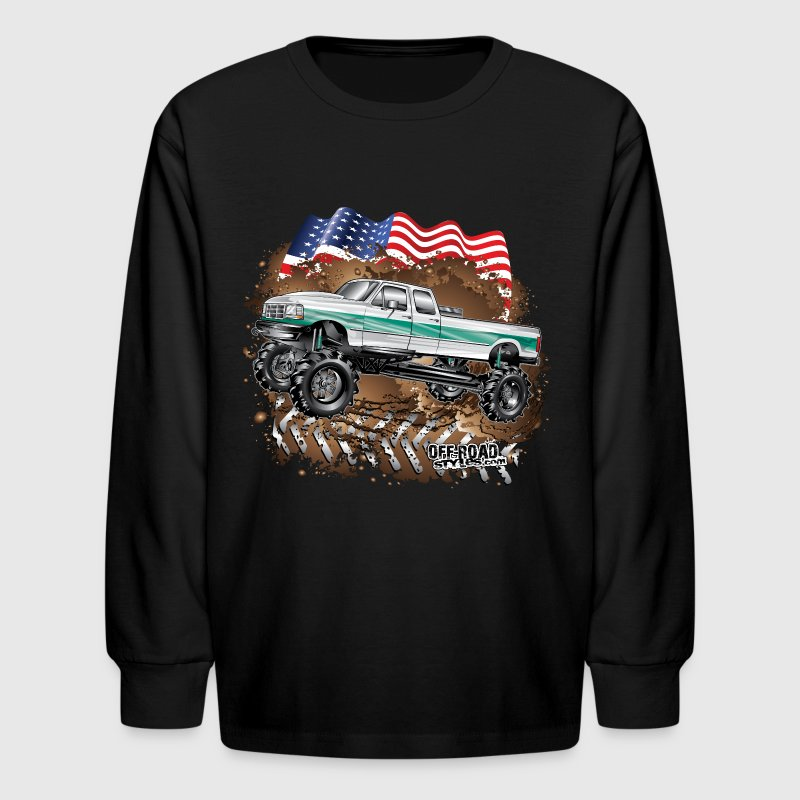 Ford Bronco F350 Mega Truck Kids' Shirts - Kids' Long Sleeve T-Shirt