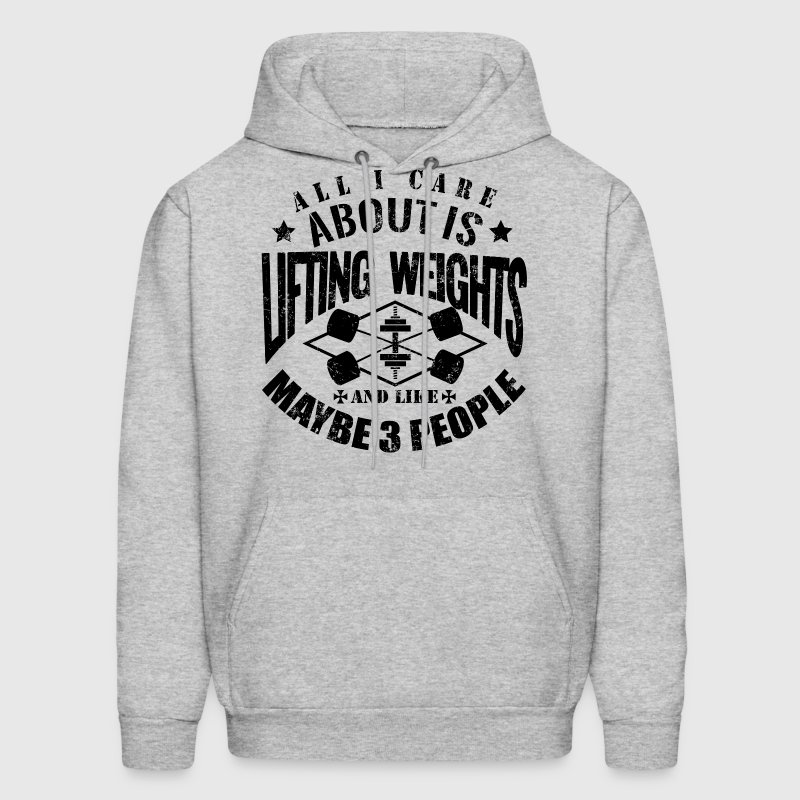 Lifting Weights Gym Workout - Men's Hoodie