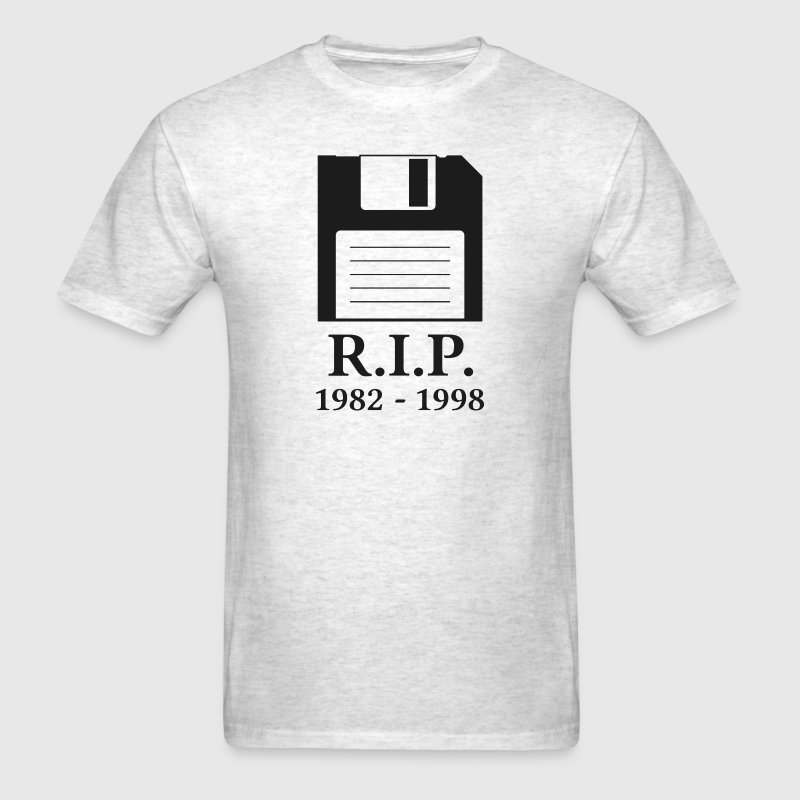 Rest in Peace RIP Floppy Disk T-Shirts - Men's T-Shirt