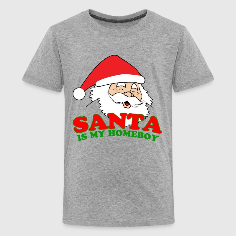 Santa Is My Homeboy Kids' Shirts - Kids' Premium T-Shirt
