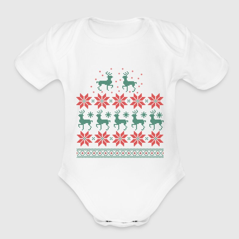 Ugly Christmas Sweater Baby & Toddler Shirts - Short Sleeve Baby Bodysuit