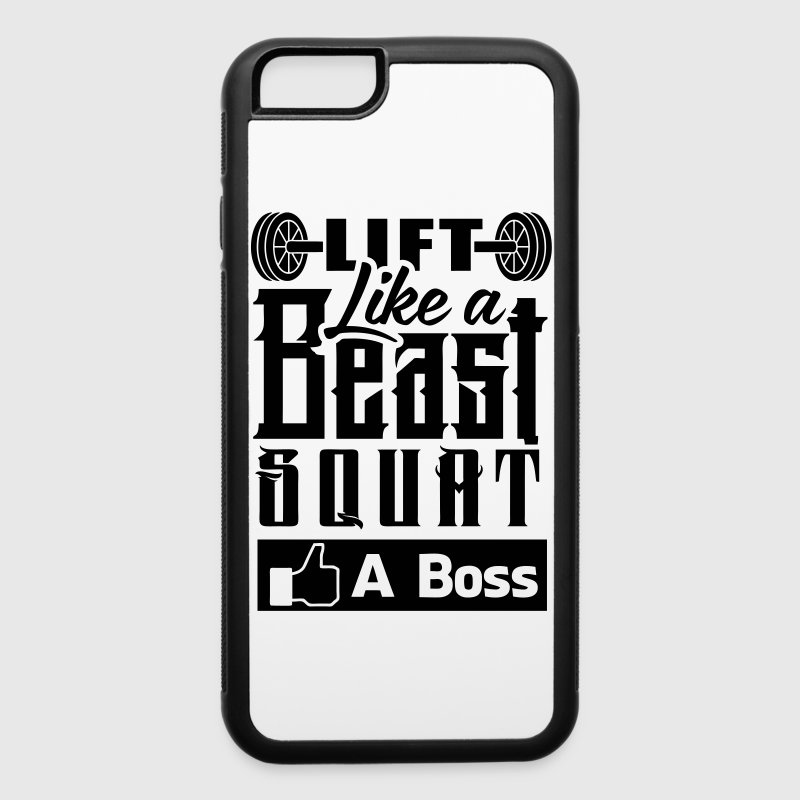 Beast Squat Boss Gym Workout - iPhone 6/6s Rubber Case