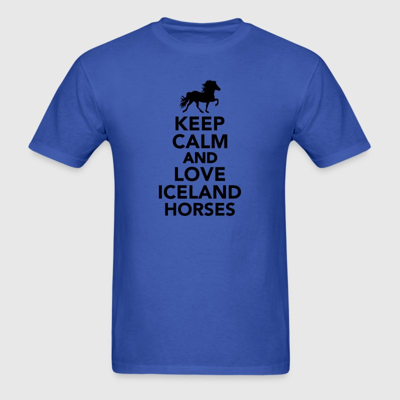 Keep calm and love Iceland horses T-Shirts - Men's T-Shirt