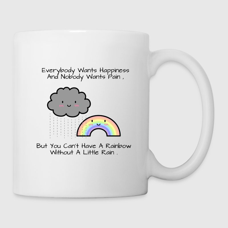 Cute Rainbow Happiness Quote Mugs & Drinkware - Coffee/Tea Mug