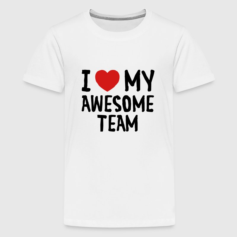 Love (Heart) My Awesome Team Kids' Shirts - Kids' Premium T-Shirt