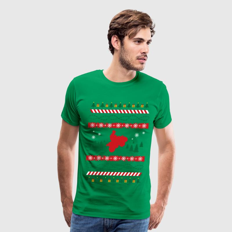 Ugly Christmas Quad ATV T-Shirts - Men's Premium T-Shirt