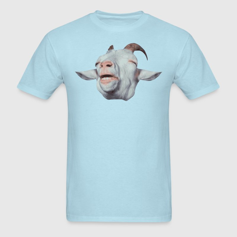 Happy Goat is Faded T-Shirts - Men's T-Shirt