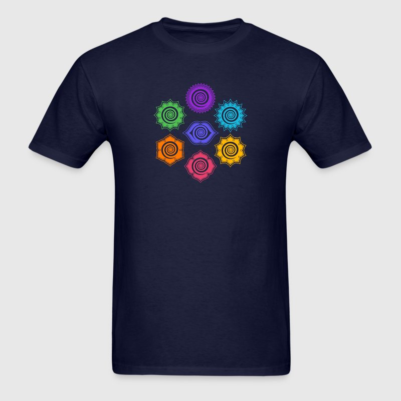 7 Chakras, Evolution, meditation, enlightenment T-Shirts - Men's T-Shirt