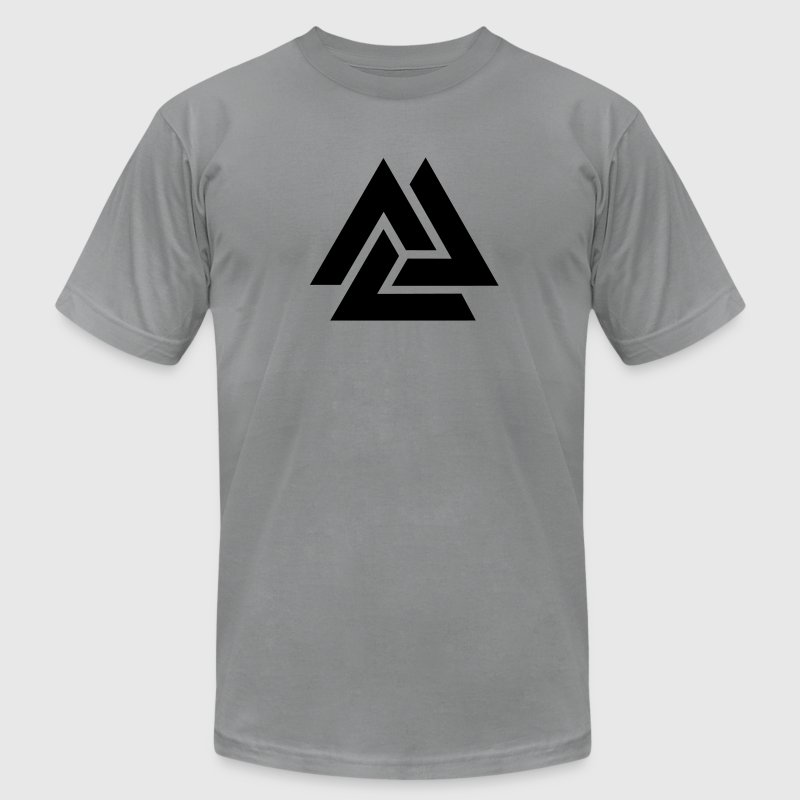 Valknut, Odins Knot, 9 Worlds of Yggdrasil T-Shirts - Men's T-Shirt by American Apparel