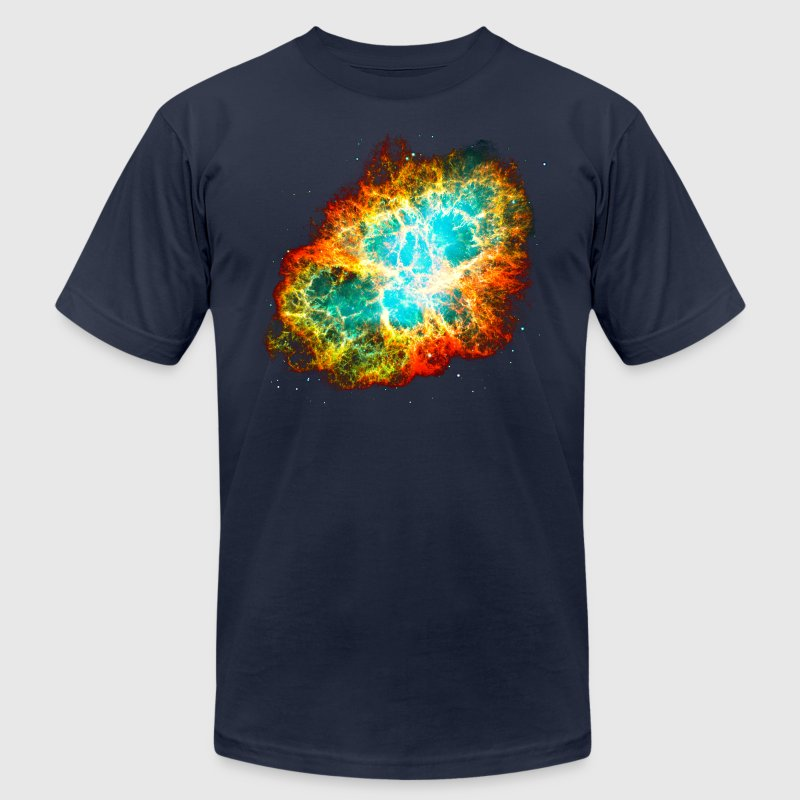 Supernova, Crab Nebula, Space, Galaxy, Milky Way T-Shirts - Men's T-Shirt by American Apparel