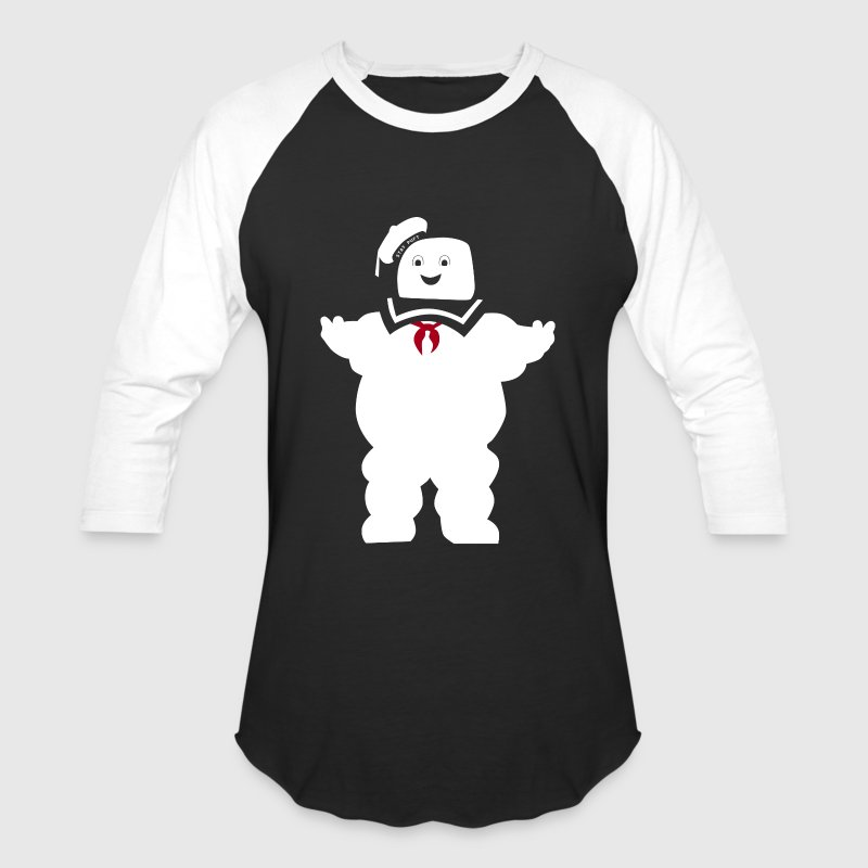 Ghostbusters - Marshmallow man - Baseball T-Shirt