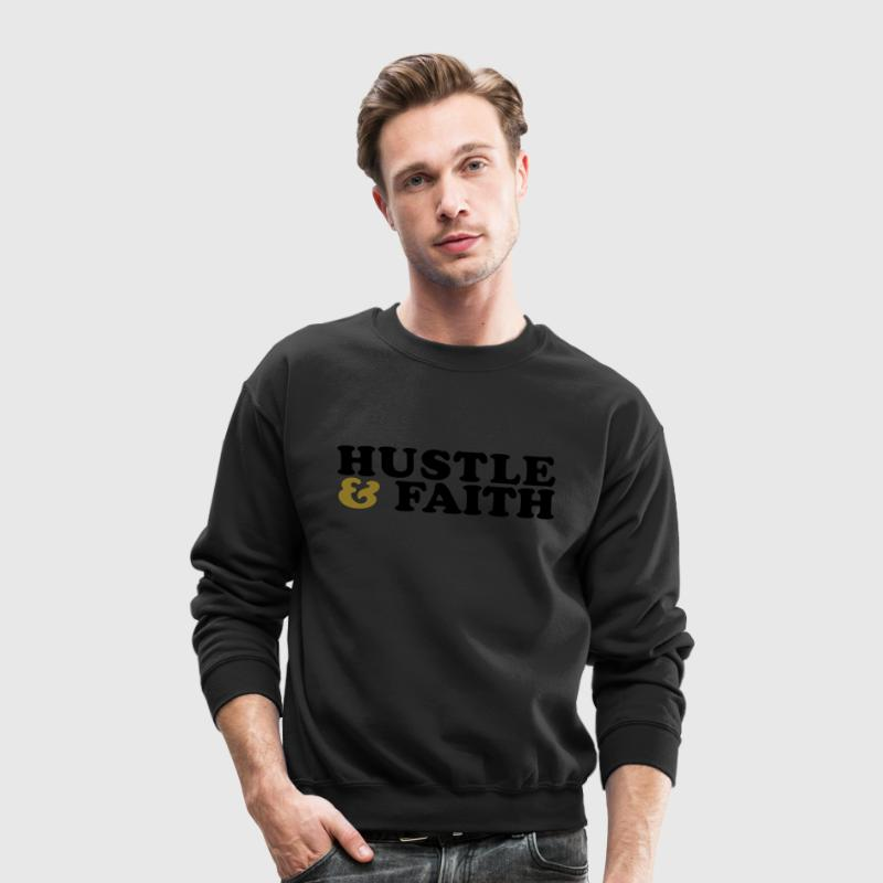 Hustle and Faith Christian Urban T-shirt Long Sleeve Shirts - Crewneck Sweatshirt