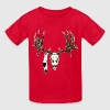 Deer skull with feathers - Kids' T-Shirt