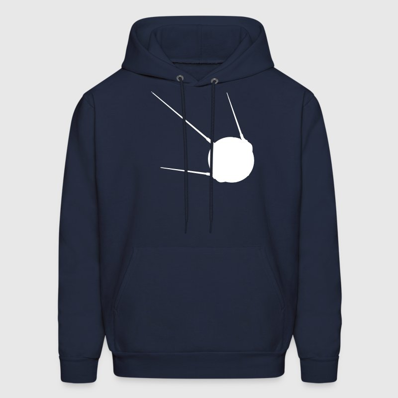 Sputnik 1 Soviet Union Earth Russian Satellite USS - Men's Hoodie