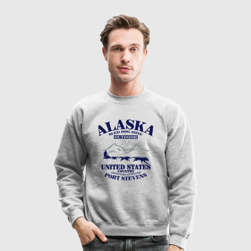 Husky - dog sled - Yukon Quest - Alaska  Long Sleeve Shirts - Crewneck Sweatshirt