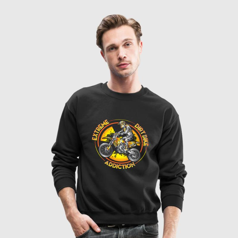 Xtreme Dirtbike Addiction Long Sleeve Shirts - Crewneck Sweatshirt