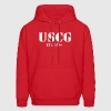 USCG US Coast Guard Hooded Sweat Shirt - Men's Hoodie