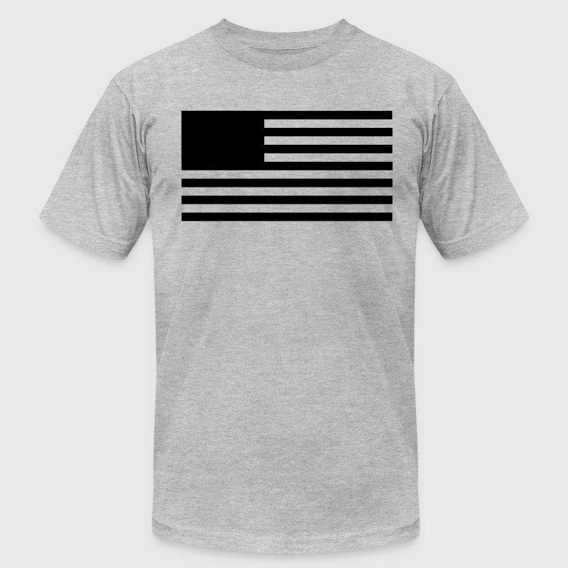 Minimalist USA Flag T-Shirts - Men's T-Shirt by American Apparel