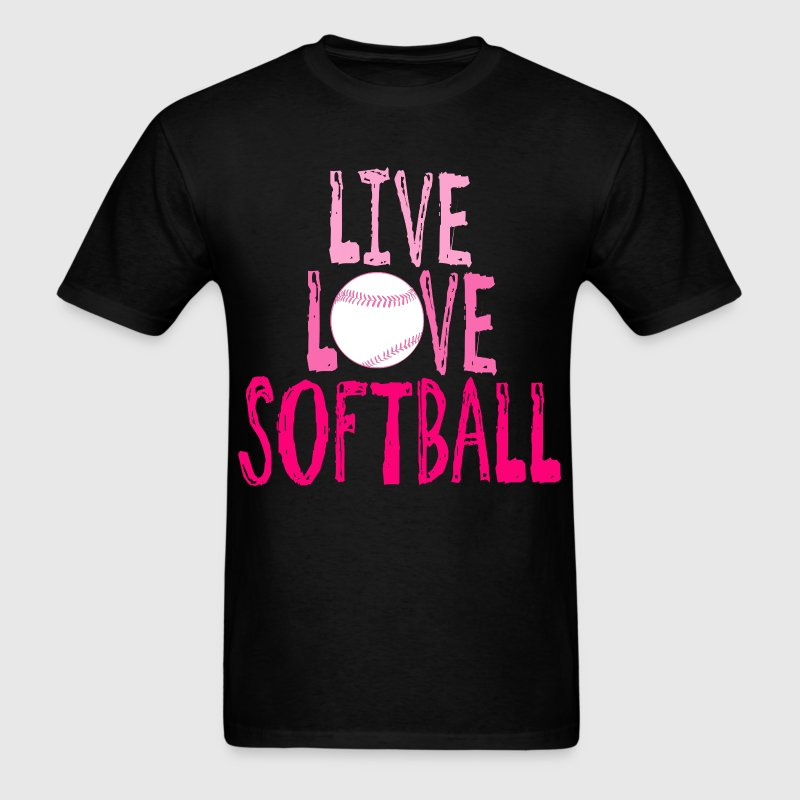 Live, Love, Softball T-Shirts - Men's T-Shirt