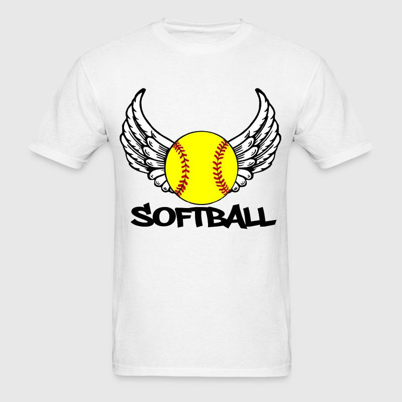 Softball with Wings T-Shirts - Men's T-Shirt