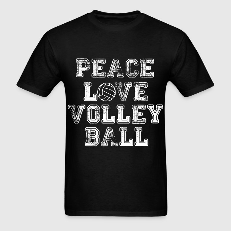 Peace, Love, Volleyball T-Shirts - Men's T-Shirt