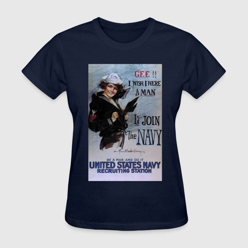 Vintage US Navy Recruiting Poster Ladies Shirt - Women's T-Shirt