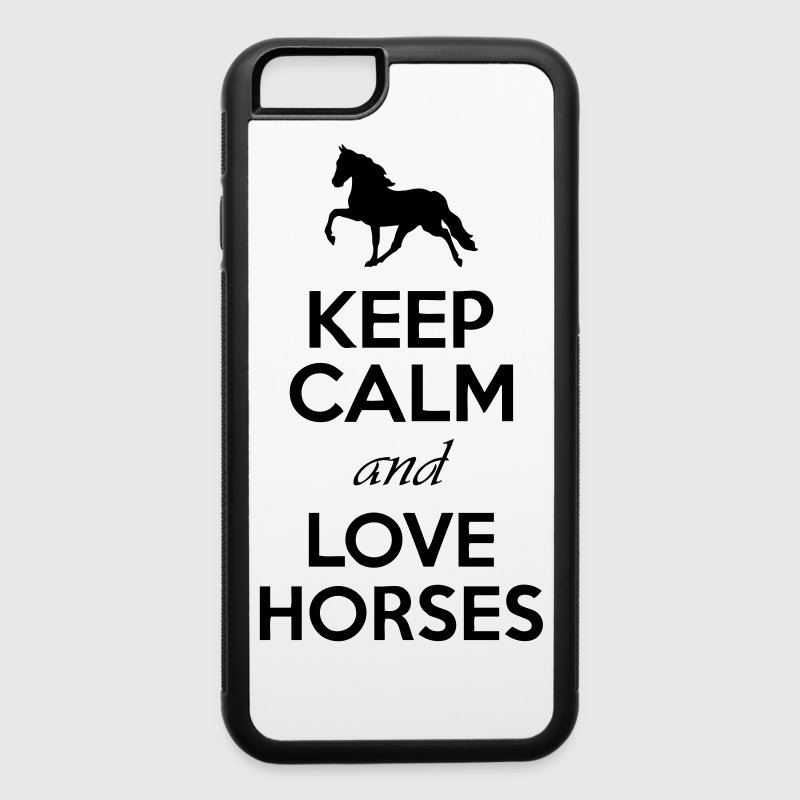 Keep Calm And Love Horses Accessories - iPhone 6/6s Rubber Case