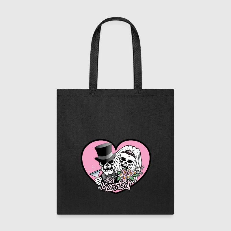 Just Married skulls Bags & backpacks - Tote Bag