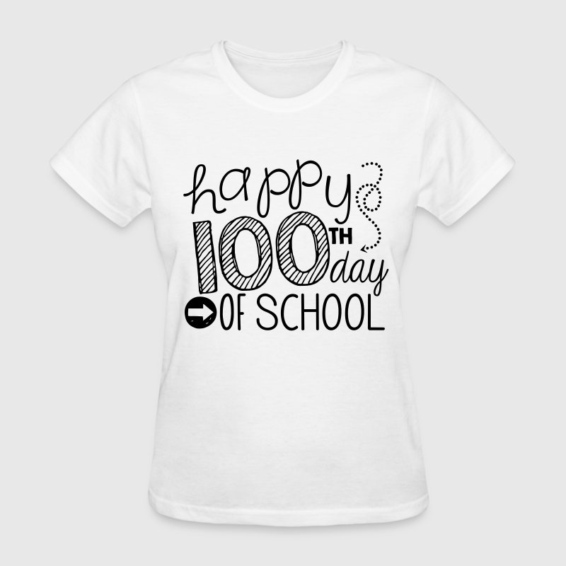 TeachersTshirts Happy 100th Day of School - Women's T-Shirt