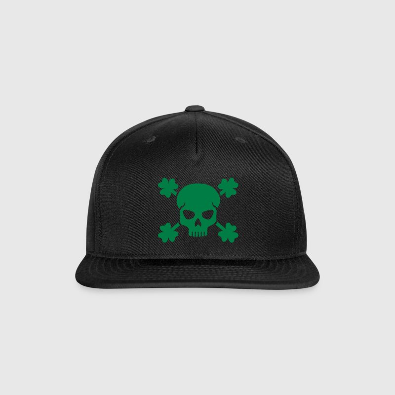 Shamrock skull Caps - Snap-back Baseball Cap