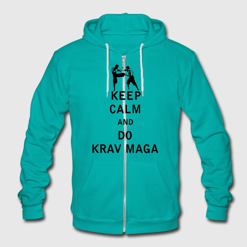 Keep Calm and Do Krav Maga - Unisex Fleece Zip Hoodie by American Apparel