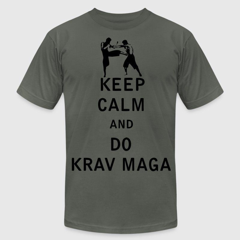 Keep Calm and Do Krav Maga - Men's T-Shirt by American Apparel
