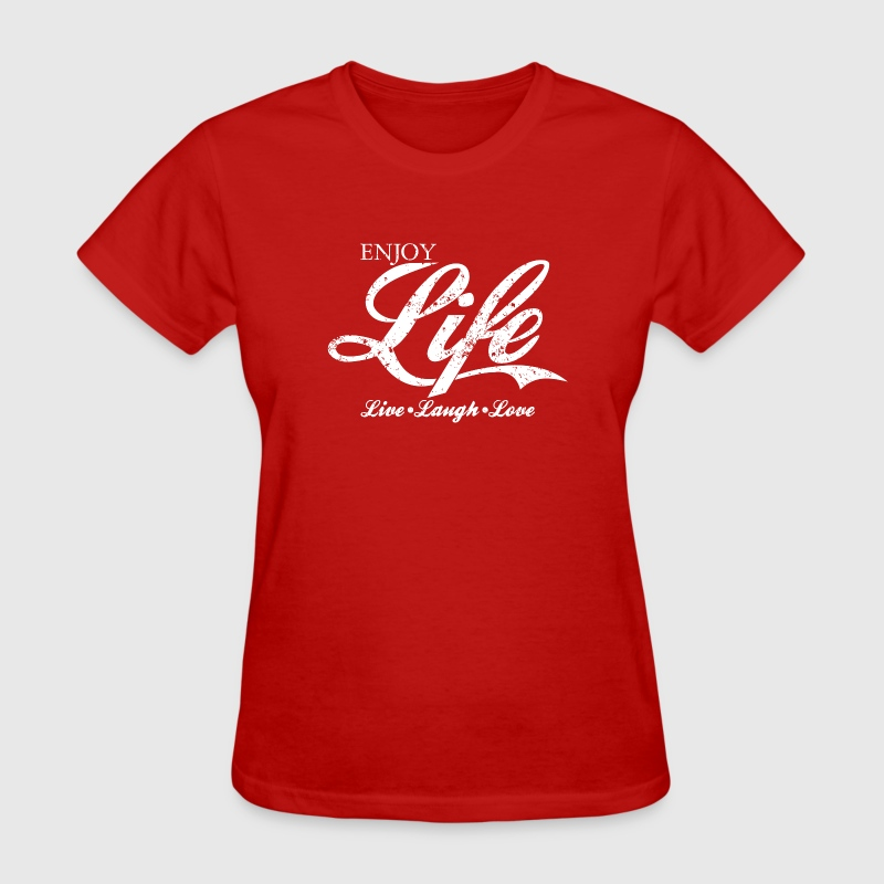 Vintage ENJOY LIFE, Live Laugh Love T-Shirt Design - Women's T-Shirt