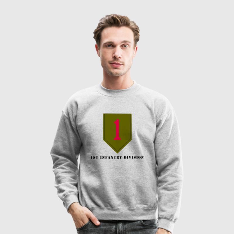 US Army 1st Infantry Division Men's Sweat Shirt - Crewneck Sweatshirt