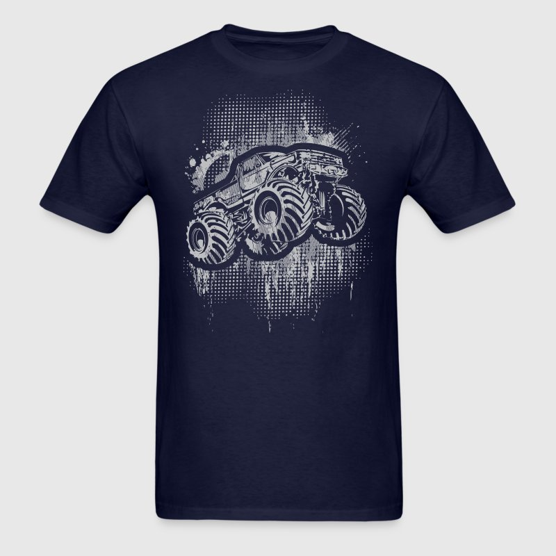 Monster 4x4 Truck grungy T-Shirts - Men's T-Shirt