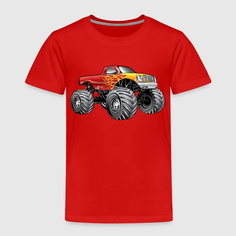 Blazing Hot Monster Truck Baby & Toddler Shirts - Toddler Premium T-Shirt