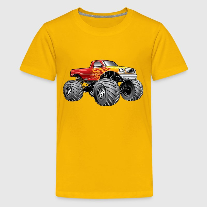 Blazing Hot Monster Truck Kids' Shirts - Kids' Premium T-Shirt