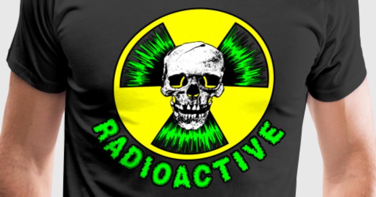 radioactive skull green t tshirt spreadshirt