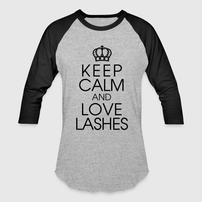 Keep Calm and Love Lashes - Baseball T-Shirt