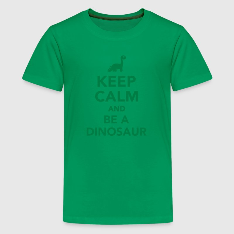 Keep calm and be a dinosaur Kids' Shirts - Kids' Premium T-Shirt