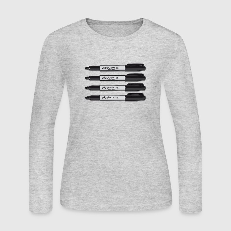 Quadro Permanent Markers Long Sleeve Shirts - Women's Long Sleeve Jersey T-Shirt
