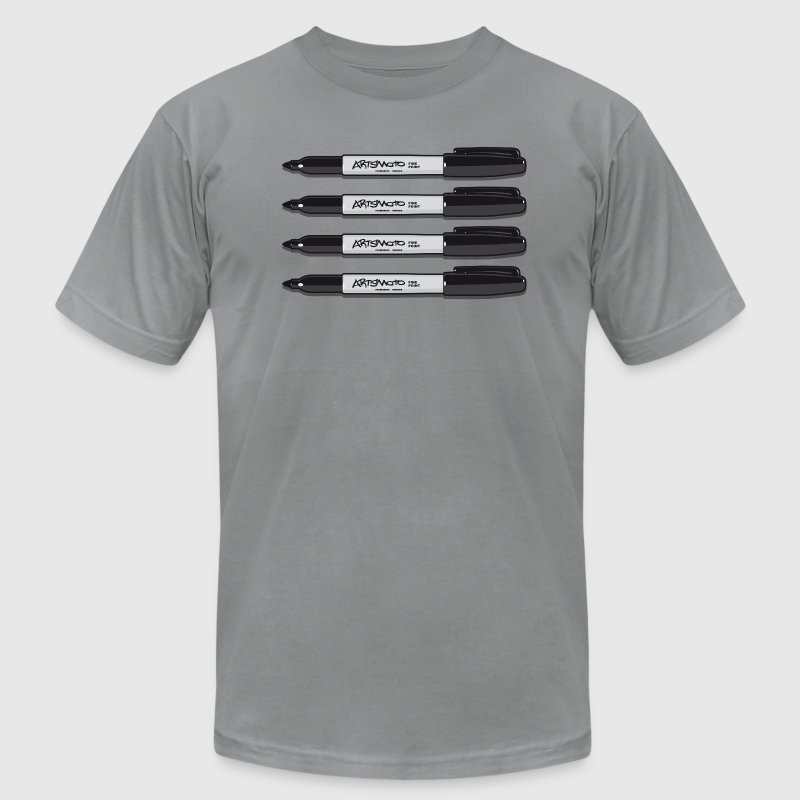 Quadro Permanent Markers T-Shirts - Men's T-Shirt by American Apparel