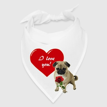 Valentine´s Day Pug Phone & Tablet Cases - Bandana