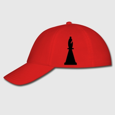 black bishop chess piece - Baseball Cap