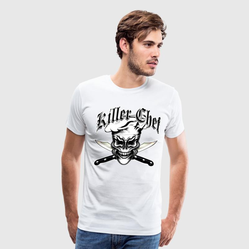Chef Skull 1: Killer Chef T-Shirts - Men's Premium T-Shirt